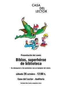 cartel biblos casa lector