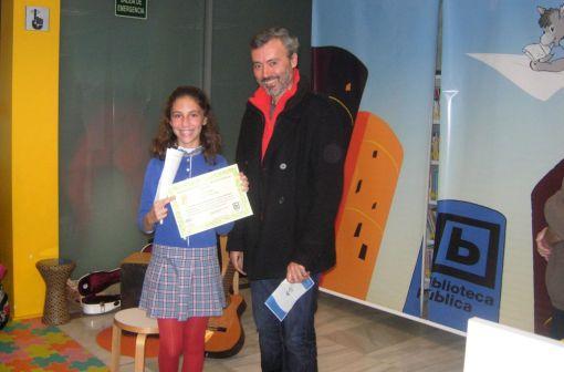 Ganadora categoría 11 a 14 años VIII Concurso Literario Infantil