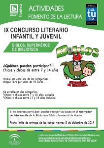 cartel CONCURSO LITERARIO biblos