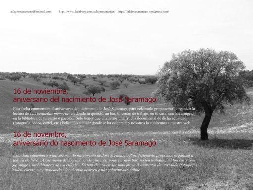 16 de Noviembre, Homenaje a José Saramago