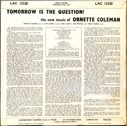 Tomorrow is the Question - Liner Notes