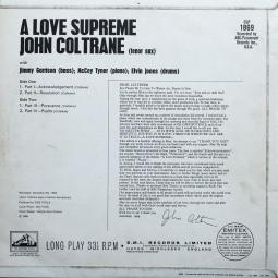 A Love Supreme (Liner Notes)
