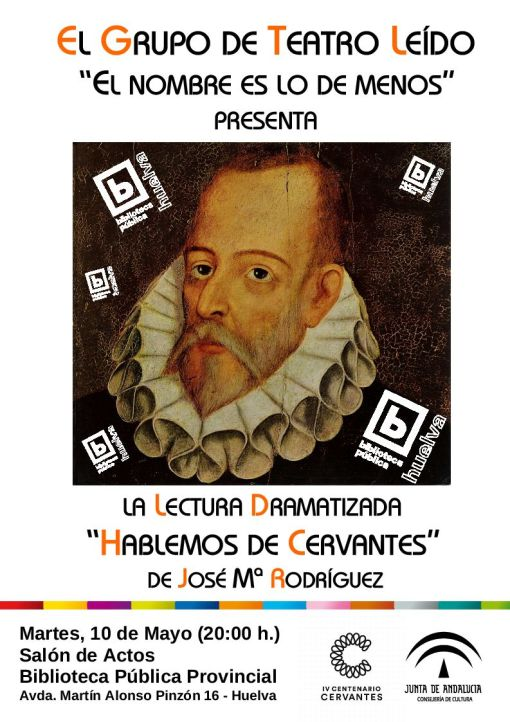 Cartel Lectura dramatizada Hablemos de Cervantes BIS