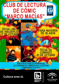 CARTEL CLUB LECTURA CÓMIC 2016 2017