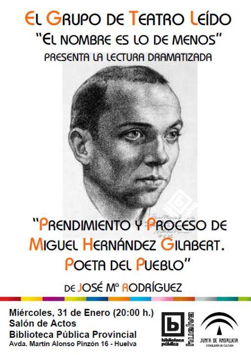 Cartel lectura dramatizada Miguel Hernández
